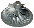 impeller from rubber plaster molding